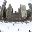 Chicago Outdoor Ice Rink - Foto Stock