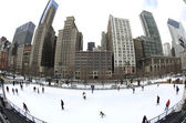 Chicago Outdoor Ice Rink — Stock Photo