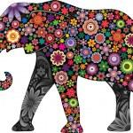 The cheerful elephant — Stock Vector
