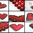 Collage of Candle Hearts - Stock Photo
