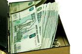 Money in coffer — Stock Photo