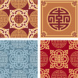Set of Oriental Seamless Patterns — Stock Vector #8818131