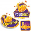 Set of Template Bowling Banners, Signs, Emblems — Stock Vector