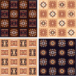 Set of African Seamless Pattern - Tile, Background, Texture, Wallpaper — Stock Vector #8917481