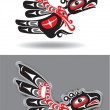 Eagle - Thunderbird - in Native American Style — Stock Vector
