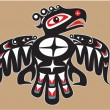 Vector de stock : Thunderbird - Native AmericStyle Vector