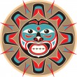 Sun - Native AmericStyle Vector — Vector de stock #8919046