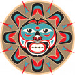Sun - Native AmericStyle Vector — Wektor stockowy #8919046