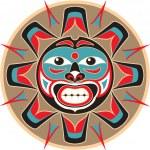 Sun - Native American Style Vector — Stock Vector #8919046