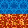 Set of Oriental Seamless Patterns - Chinese Symbols — Stock Vector #8919577