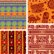 Stock Vector: Set of MexicSeamless Patterns