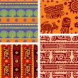 Stock Vector: Set of Mexican Seamless Patterns