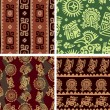 Set of Mexican Seamless Patterns — Stock Vector #8919613