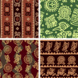 Set of Mexican Seamless Patterns — Stock Vector