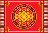 Modello di vettore orientale cinese - tappeto, decorazione, cornice, rosetta — Vettoriale Stock