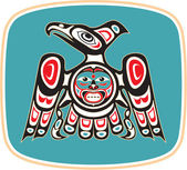 Eagle - Native American Style Vector — Vector de stock