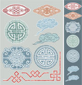 Set of Vector Oriental Patterns — Stock Vector