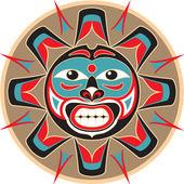 Sole - nativi americani stile vettoriale — Vettoriale Stock