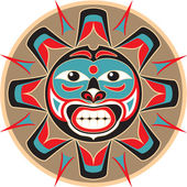 Sun - Native American Style Vector — Vector de stock