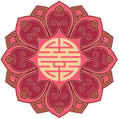 Vector Oriental Flower Pattern — Stock Vector