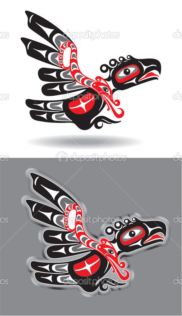 Native american thunderbird vector