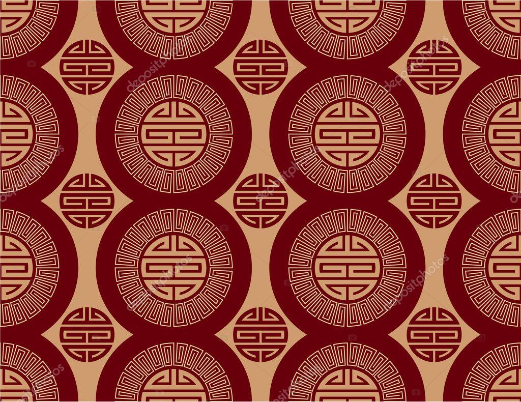 Vector oriental de patrones sin fisuras fondo papel for Papel pintado oriental