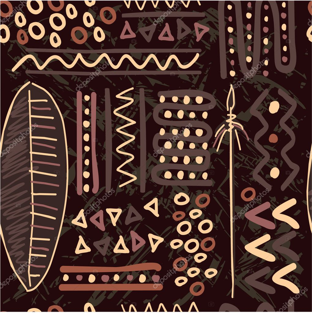 Vector African Seamless Pattern Background Wallpaper