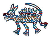 Mexican Aztec Coyote Illustration — Stock Photo