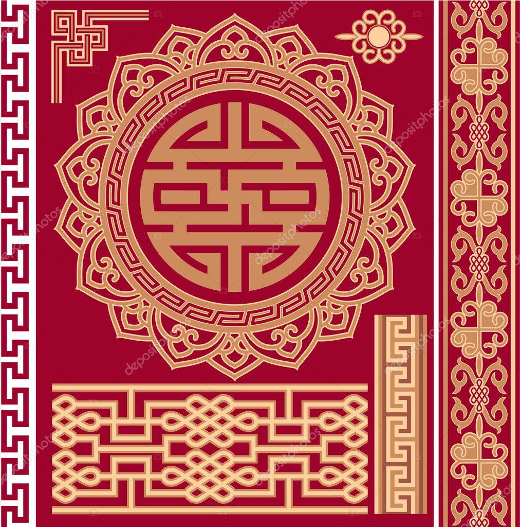 Китайский орнамент и узор в