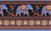 Indian - Hindu - Elephant Seamless Border — Stock Vector