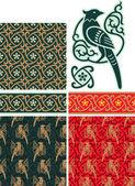 Set of Oriental Design Elements — Stock Vector