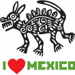 Stock Vector: I Love Mexico Template Design