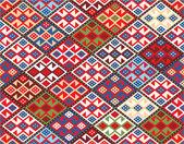 東洋のシームレスなパターン - 遊牧民の敷物 — ストックベクタ