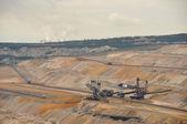 Tagebau und Kraftwerk — Stock Photo