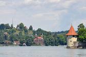 Pulverturm an der Westseite der Insel Lindau am Bodensee — Stock Photo