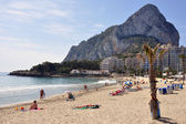 Felsen in Calpe an der Costa Blanca — Stock Photo