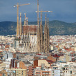 View of Sagrada Familia and surrounding buildings of Barcelona — Stock Photo