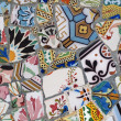 Stock Photo: Gaudi Mosaic Tiles - Barcelona, Spain