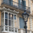 Stock Photo: Enclosed balcony, Barceloncenter, Spain.