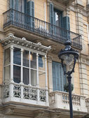Enclosed balcony, Barcelona center, Spain. — Stock Photo