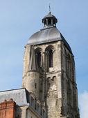 Clock tower, Saint MArtin basilica, Tours, France. — Zdjęcie stockowe