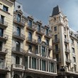Stock Photo: Building frontage under storm sky, Barceloncenter , Spain
