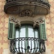 Stock Photo: Heavily decorated balcony, Barcelona, Spain.