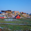 Stock Photo: Ilulissat at dusk in summer, Greenland.