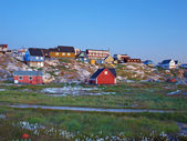 Ilulissat at dusk in summer, Greenland. — Stock Photo
