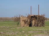 Duck hunt shelter — Stockfoto