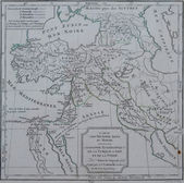 Antique map of ecclesiastical Turkey and Persia — Stock Photo