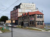 PUERTO NATALES, CHILE, autumn 2010, hotel next to the harbour — Stock Photo