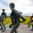 Stock Photo: Sculpture in Reykjavik, Iceland