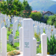 Muslim cemetery in Sarajevo, Bosnia - Stock Photo